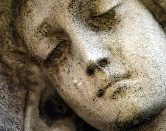 Virgin Mary Mother Mary Sad Angel cemetery statue stock photo image free use