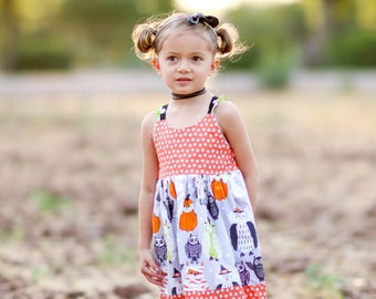 Girls Halloween Dress - Girls Outfit- Baby Halloween Owl Dress - Girls Halloween Outfit - Toddler Outfit - Owl Dress -Girls Owl Dress