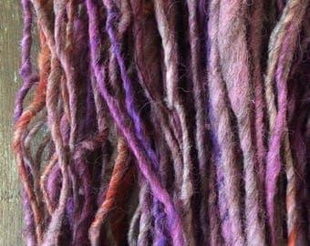 Sweet Home Alabama, handspun bulky yarn, 96 yards, bulky yarn, rustic art yarn, chunky yarn, wool handspun yarn