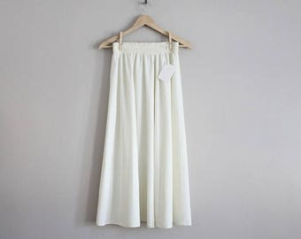 25% OFF SALE white ankle skirt | high waist white skirt | long white skirt