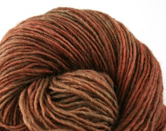 Valkill Hand Dyed DK weight NYS Wool 252yds/ 230m ~4oz/113g Rusty
