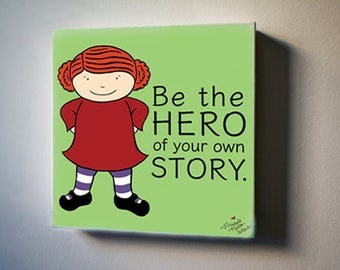 "Cordelia: Be the Hero of Your Own Story 8""x8"" Canvas Reproduction"