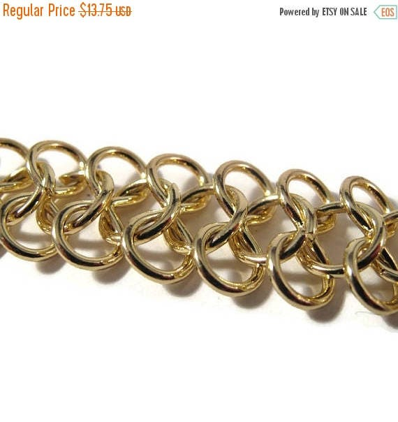 Summer SALEabration - Gold Plated Chain, 16 Inch Piece of Specialty Chain, AMAZING Chain, Jewelry Supplies (F-1b)