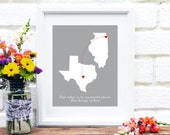 Mothers Day Gift, Gift for Mom, Mother Gift, Miss You, Send Mother's Day Gift, Mom Quote, Gift for Her, Long Distance Family, Two States
