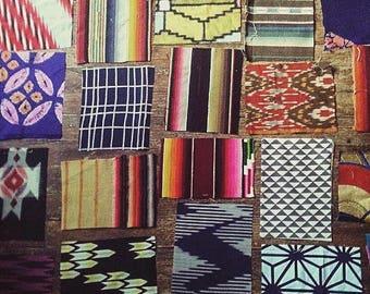 Fabric Remnants. Kimono Fabric Remnants. Serape Fabric. Kilim fabric. Boho Fabric. Vintage Fabric Set. Ethnic Fabrics. Tribal Fabrics.