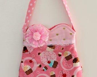 Cupcake Love purse, girls purse, toddler purse,