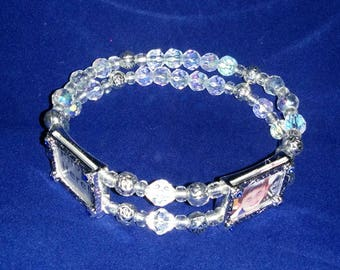 Silver Plated Instant Photo Bracelet, Beautiful bracelet where you add your own pictures