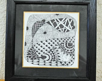 Peaceful doodle - zentangle art