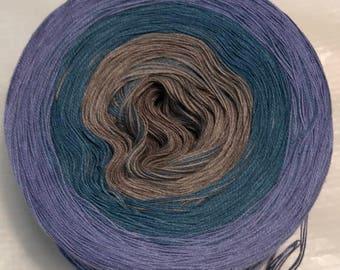 3-ply gradient tied cotton 100g light fingering Calm Me v.1