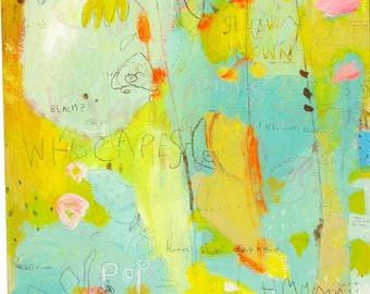 Abstract Canvas Art Print by Jennifer Mercede 'This Pencil'