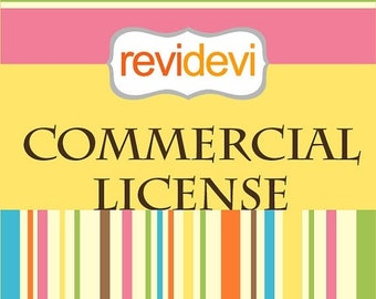 35% OFF SALE Revidevi Commercial License - for no credit required - for 1 clip art set