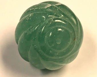 Vintage Green AVENTURINE Focal Bead 25mm pkg1 cb165