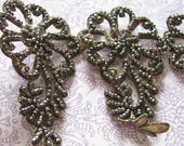 The Ghostess with the Mostest...Fabulous Old Vintage Spiky Silver Beaded Trim