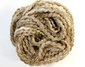 baked  .. natural undyed shetland sheep wool, wool yarn, handspun yarn, hand spun yarn, bulky wool yarn,