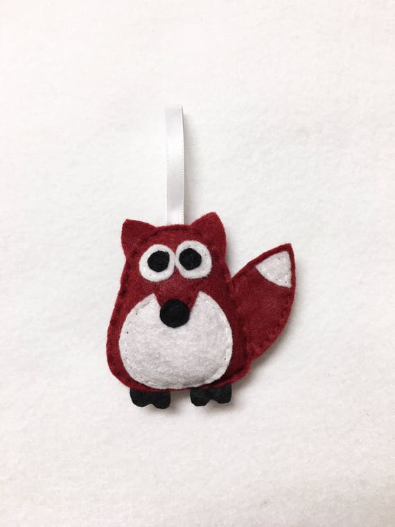 Fox Ornament, Ornament, Christmas Ornament, Rupert the Baby Fox, Felt Animals, Gift Toppers