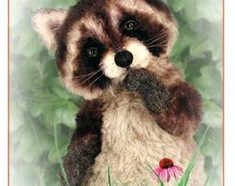 ON SALE Raccoon Sewing Pattern, Plush Raccoon Pattern, Teddy Bear Pattern, Stuffed Animal Pattern, Artist Raccoon PDF, Raccoon Diy