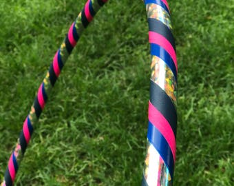 Blue and Pink Beginner Prism Hula Hoop // Choose Your Diameter and Tubing