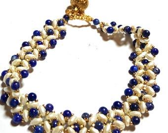 Lapis Diamond Bracelet