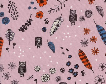 Cozy Dream Owl in Lilac - Cozy Collection by Cotton + Steel Fabrics - 100% cotton quilting fabric by the yard
