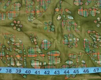Cotton Fabric - Olive Green Batik 28 inches