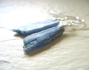 Blue Kyanite Earrings, Kyanite Stone Earrings, Artisan Handmade Gemstone Dangle Chandelier Earrings, Gemstone Jewelry, Kyanite Jewelry