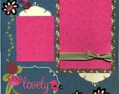 Lovely - Page Scrapbook Premade