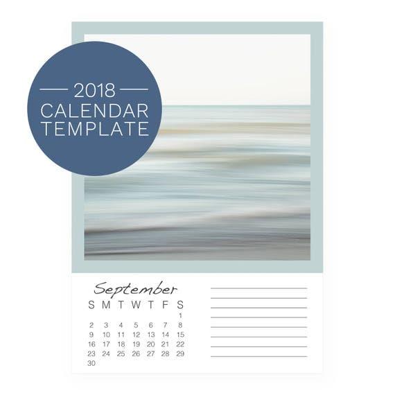 Calendar Template 2018 Photo Desk Calendar 2018 Calendar