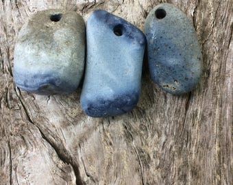 BLUE STONES...5 piece natural beach stone, Seaham,UK,organic supplies,love rocks,wedding token,zen