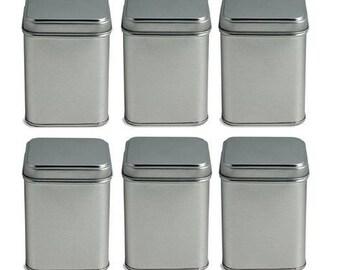 Tea Tin Canister -6 Pcs