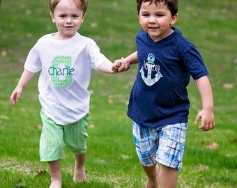 SALE Boys Shorts Pattern Tutorial-- nb-8 boys 2 options incl. flat front, pockets, beltloops PDF Instant