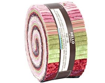 "Robert Kaufman COVENTRY GARDEN Roll Up 2.5"" Precut Fabric Quilting Strips Jelly Roll RU-664-40"