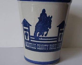 Louisville Stoneware Cup Nashville Charity Horse Show Mint Julep Cup Tumbler