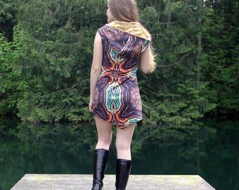 Kaleidoscope Dress - Boho Dress - Hippie Dress - Festival Dress - Short Dress - Mini Dress - Gypsy Dress - Tank Dress - Womens Dres