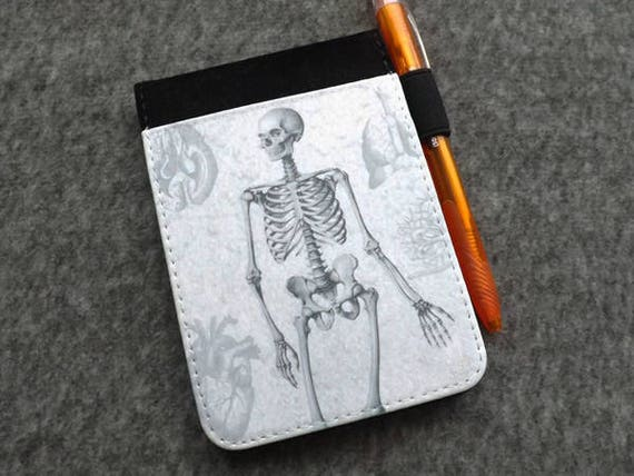 Notepad Cover medical school graduation gift anatomy notebook physician assistant male nurse practitioner gothic masculine refillable