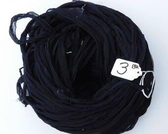 CUSTOM FOR AMY Silk Sari Ribbon, Chiffon Sari silk ribbon, Black Chiffon ribbon, tassel supply, weaving supply, knitting supply