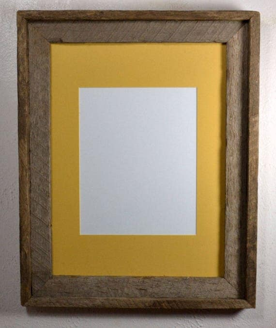 12x16 Frame From Reclaimed Wood With Natural Colors Yellow