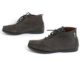 size 7 EASTLAND dark green leather 90s CHUKKA lace up ankle booties