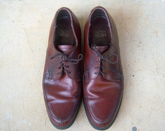 30% MOVING SALE Men's leather oxfords / vintage lace up derby shoes, brown oxblood, mens 7.5, womens 9, euro 40
