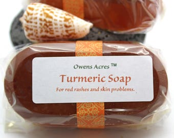Turmeric Soap - Turmeric Goats Milk Soap for Skin Conditions, Skin Problems, Breakouts, Pimples, Facial Detox, Inflamed Skin Rashes