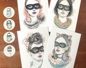 Imposter series mini prints package