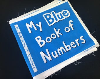 Vintage My Blue Book of Numbers Cloth  Cut Out Book to Sew