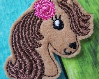 Pretty Pony Feltie, Horse Feltie, Rainbow, Felt Embellishments, Felt Applique, Hair Bow Supplies