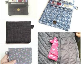 cute pink wallet. teen girl fabric coin purse card organizer. cute ladies credit card holder. tween small vegan slim gift