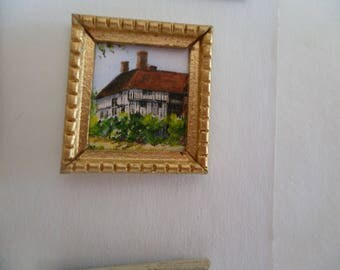 One 48th Scale prints (They are Tiny Wee!!) Great Dixter, Sussex, UK. A Tudor manor house.