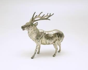 Vintage Metal Deer Reindeer Figurine Christmas Decoration