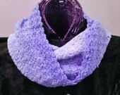 MOTHERSDAY Lavender Tonals Hand-Dyed Infinity Scarf
