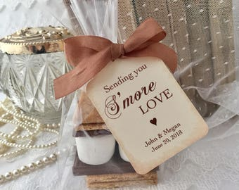 S'mores Favor Kit, S'mores Favor Bags, S'mores Wedding Bags and Tags, Set of 10