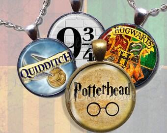 Harry Potter Glass Pendant Necklace Jewelry Bundle Gift Party Favors Grab Bag Bulk Discount