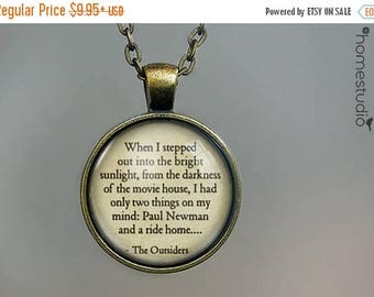 ON SALE - The Outsiders (Bright) : Glass Dome Necklace, Pendant or Keychain Key Ring. Gift Present metal round art photo jewelry by HomeStud