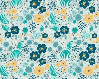 15%OFF Ava Rose By Deena Rutter Floral Blue